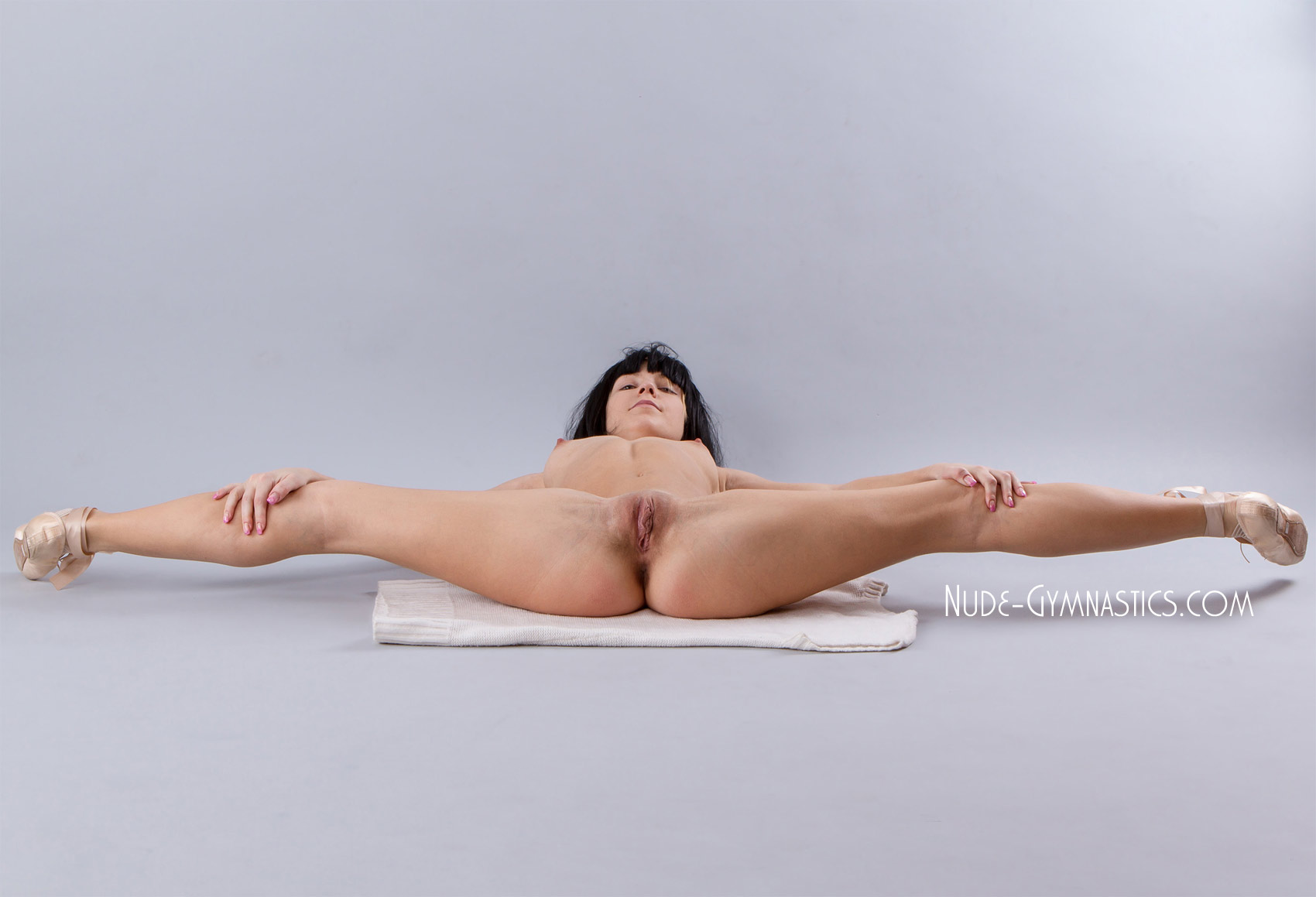 Naked gymnast almost